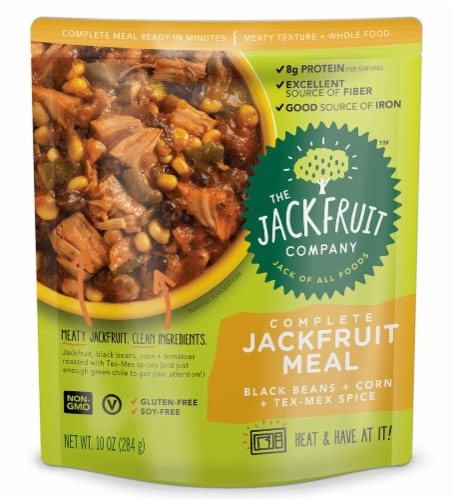 The Jackfruit Company Tex Mex Spice Complete Jackfruit Meal Perspective: front