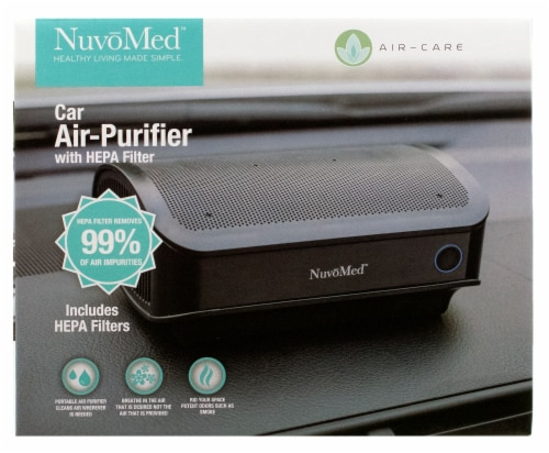 NuvoMed Car Air Purifier with HEPA Filter Perspective: front