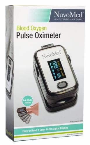NuvoMed Fingertip Blood Oxygen Pulse Oximeter Perspective: front