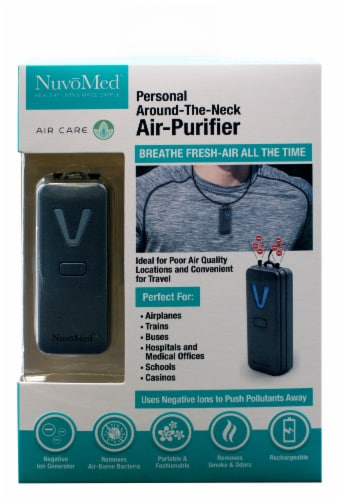 NuvoMed Personal Around the Neck Air Purifier Perspective: front