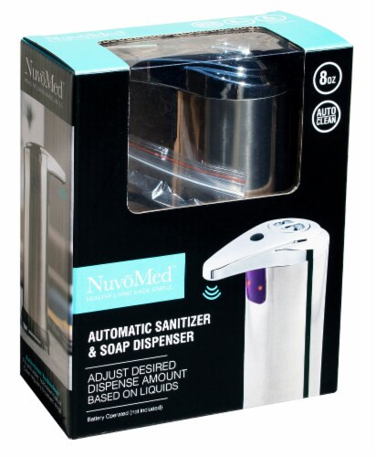 NuvoMed Automatic Sanitizer & Soap Dispenser Perspective: front