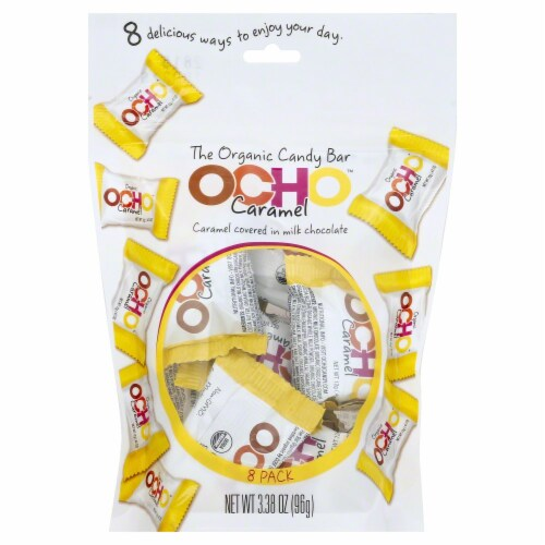 OCHO Caramel Covered Milk Chocolate Candy Perspective: front