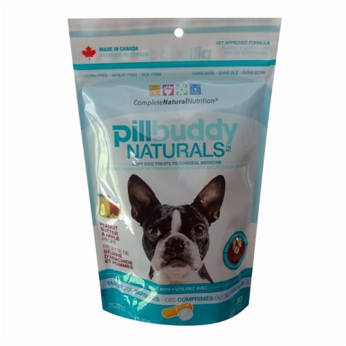 Pet Food Experts 30200946 150 g Complete Natural Nutrition Pill Buddy Apple & Peanut Butter D Perspective: front