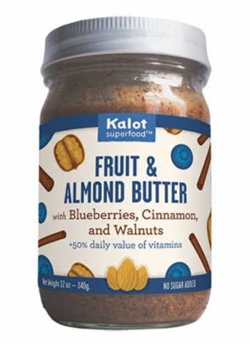 Kalot Blueberries Cinnamon and Walnuts Fruit & Almond Butter Perspective: front