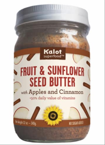 Kalot Superfood Apple Cinnamon Fruit & Sunflower Seed Butter Perspective: front