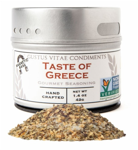 Gustus Vitae Taste of Greece Gourmet Seasoning Perspective: front