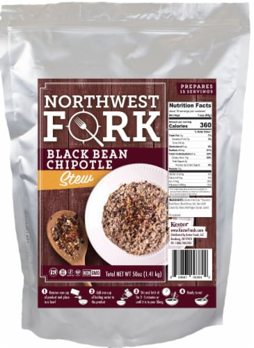 NorthWest Fork Black Bean Chipotle Stew (Gluten-Free, Non-GMO, Kosher, Vegan) Perspective: front