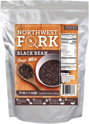 NorthWest Fork Black Bean Soup (Gluten-Free, Non-GMO, Kosher, Vegan) Perspective: front