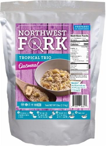 NorthWest Fork Tropical Trio Oatmeal (Gluten-Free, Non-GMO, Kosher, Vegan) Perspective: front