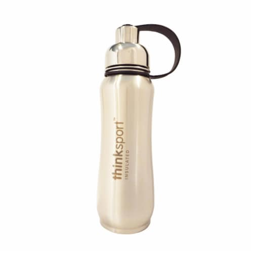 Thinksport Insulated Sports Bottle - Silver Perspective: front