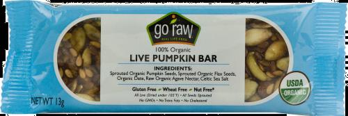 Go Raw Pumpkin Flax Bar Perspective: front