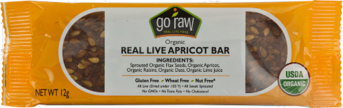 Go Raw Real Live Flax Bar Perspective: front