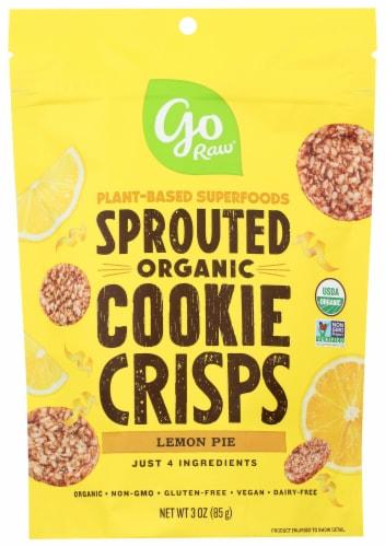 Go Raw Organic Lemon Super Cookies Perspective: front