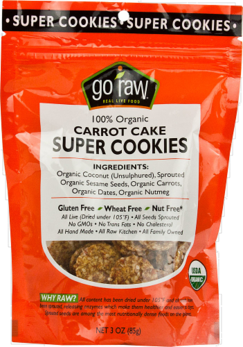 Go Raw Carrot Cake Super Cookies Perspective: front