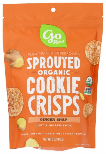 Go Raw Ginger Snaps Super Cookies Perspective: front