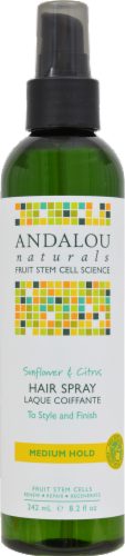 Andalou Naturals Perfect Hold Sunflower Hair Spray Perspective: front