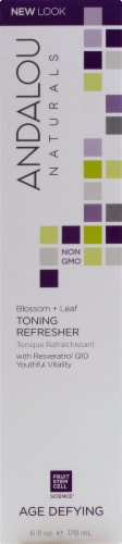 Andalou Naturals Blossom & Leaf Age Defying Toning Lotion Perspective: front