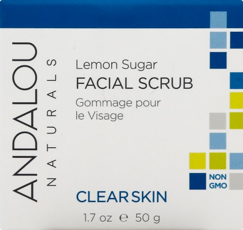 Andalou Naturals Lemon Sugar Facial Scrub Perspective: front