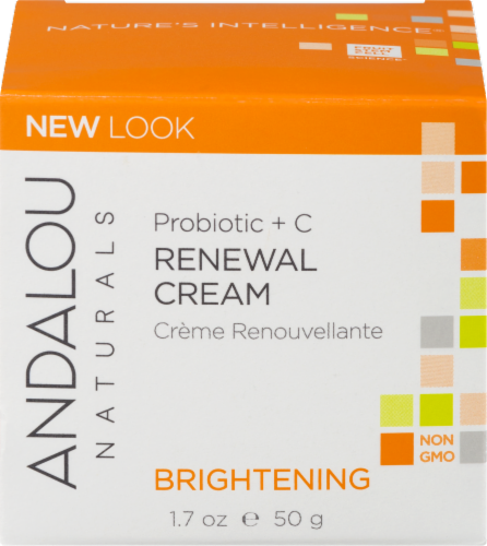 Andalou Naturals Probiotic + C Brightening Renewal Cream Perspective: front