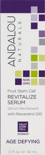 Andalou Naturals Fruit Stem Cell Revitalize Serum With Resveratrol Perspective: front