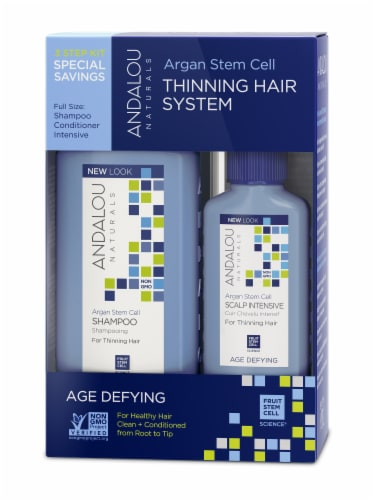 Andalou Naturals Thinning Hair Treatment Shampoo Perspective: front