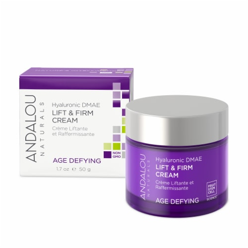Andalou Naturals Hyaluronic DMAE Age Defying Lift & Firm Cream Perspective: front