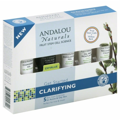 Andalou Naturals Clarifying Skin Care Essentials Kit Perspective: front