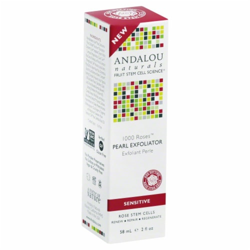 Andalou Naturals 1000 Roses Pearl Exfoliator Perspective: front