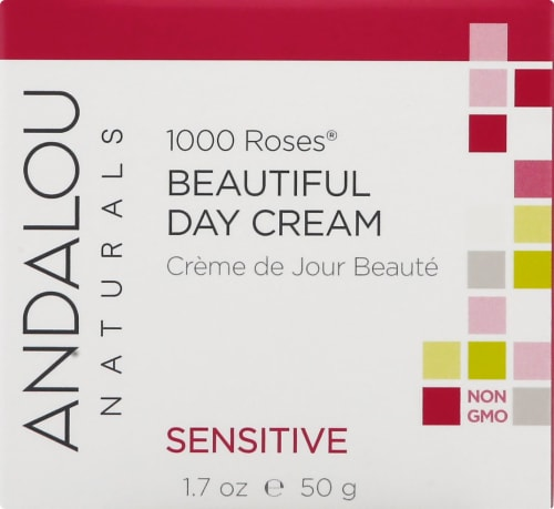 Andalou Naturals 1000 Roses Beautiful Day Cream Perspective: front