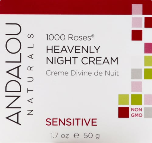 Andalou Naturals 1000 Roses Heavenly Night Cream Perspective: front