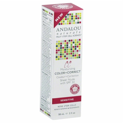 Andalou Naturals Moisturizing Color+Correct Perspective: front