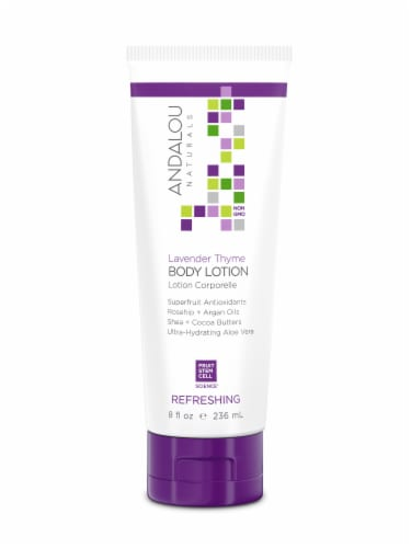 Andalou Naturals Lavender Thyme Refreshing Body Lotion Perspective: front