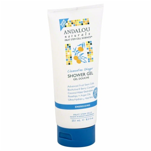 Andalou Naturals Clementine Ginger Shower Gel Perspective: front