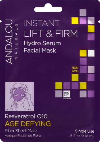 Andalou Naturals Instant Lift & Firm Hydro Serum Facial Mask Perspective: front