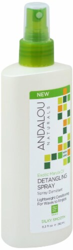 Andalou Naturals Exotic Marula Oil Detangling Silky Smooth Spray Perspective: front