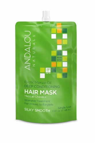 Andalou Naturals Exotic Marula Oil Silky Smooth Deep Conditioning Hair Mask Perspective: front