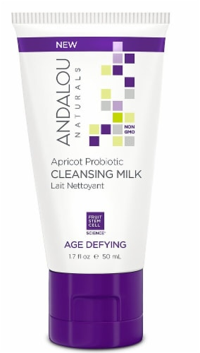 Andalou Naturals Cleansing Milk Apricot Age Defying Probiotic Perspective: front
