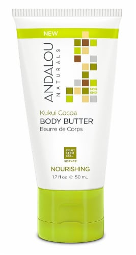 Andalou Naturals Kukui Cocoa Nourishing Body Butter Perspective: front