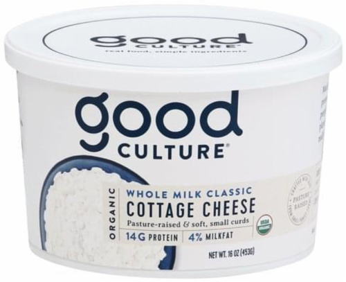 Good Culture Organic Whole Milk Cottage Cheese Perspective: front