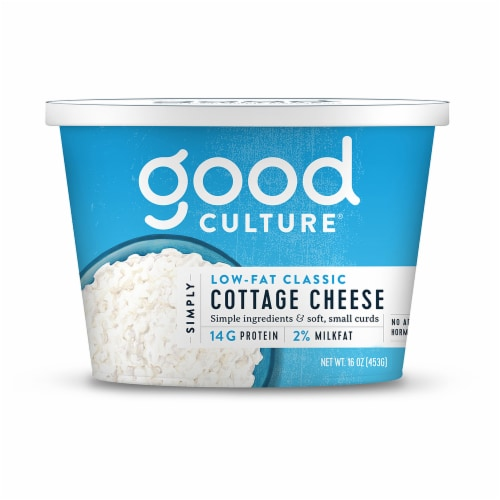 Good Culture Low-Fat Classic 2% Cottage Cheese Perspective: front