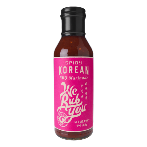 We Rub You Spicy Korean BBQ Marinade Perspective: front