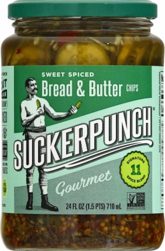 Suckerpunch Spicy Bread N' Better Gourmet Pickles Perspective: front