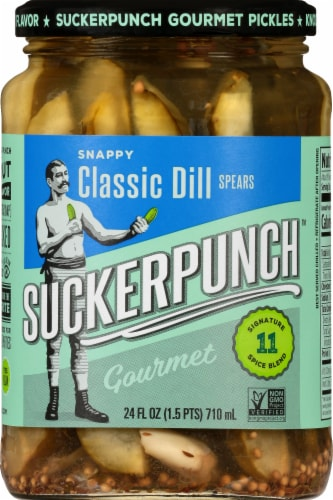Suckerpunch Classic Dill Spear Pickles Perspective: front