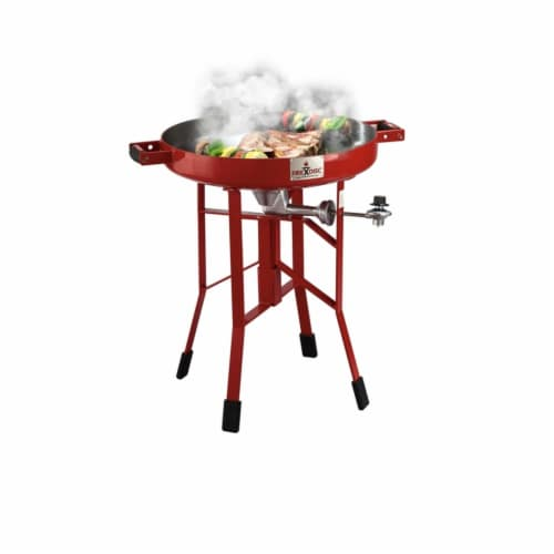 FireDisc 1 burners Propane Grill Red 30000 BTU - Case Of: 1 Perspective: front