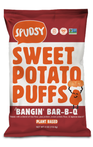 Spudsy Bangin' Bar-B-Q Sweet Potato Puffs Perspective: front