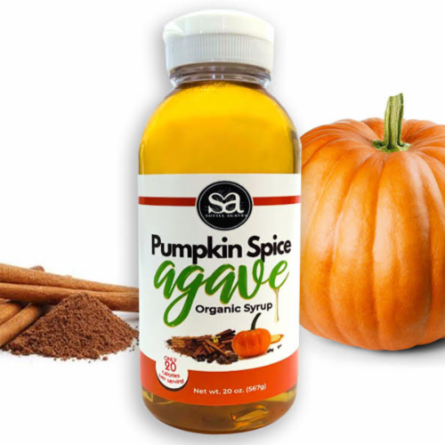 Organic Pumpkin Spice Agave Perspective: front