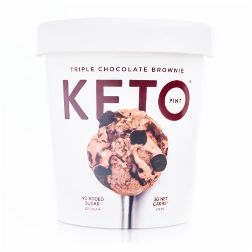 Keto Pint Chocolate Ice Cream Perspective: front