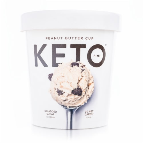 Keto Pint Peanut Butter Cup Ice Cream Perspective: front