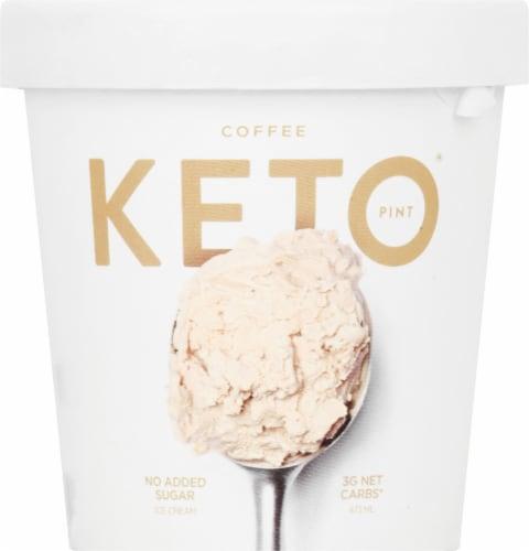 Keto Pint Coffee Ice Cream Perspective: front