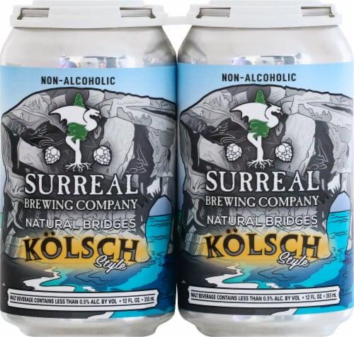 Surreal Brewing Company Natural Bridges Kolsch Style Malt Beverage Perspective: front